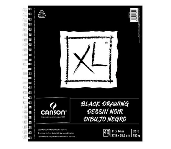 Canson XL Black Drawing Pads