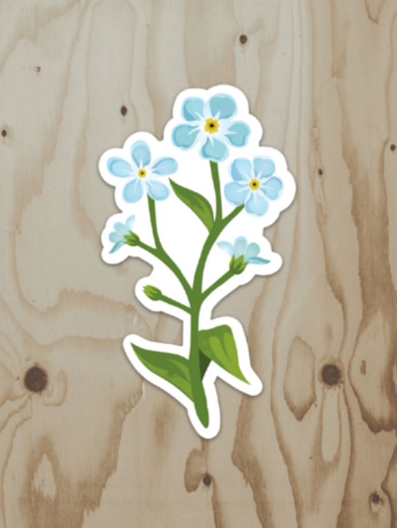 Forget Me Not Bouquet Sticker