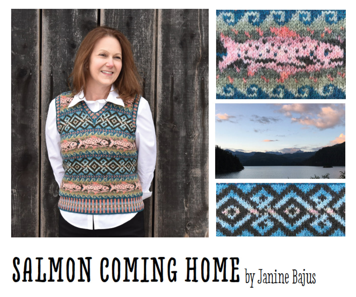 Salmon Coming Home Vest Pattern by Janine Bajus