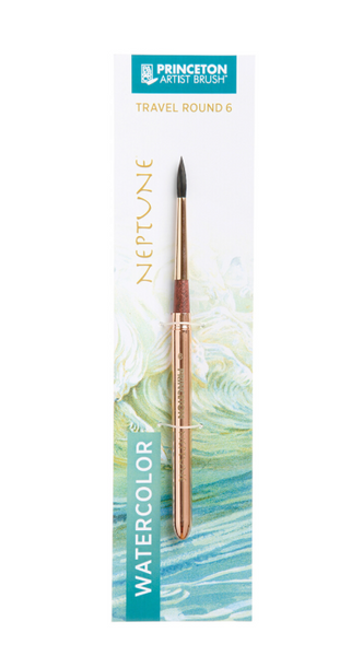 Neptune Synthetic Squirrel Watercolor Travel Round Brushes