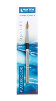 Aqua Elite Synthetic Kolinsky Sable Watercolor Travel Round Brushes
