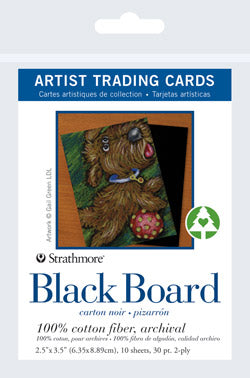 "Artist Trading Card Packs | Black Board 2.5""x3.5"""