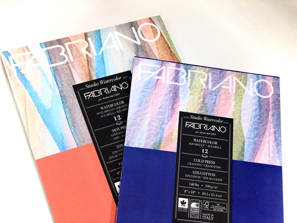 Fabriano Watercolor Pads | 12 Sheets