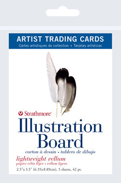 "Artist Trading Card Packs | Illustration Board Vellum Surface 2.5""x3.5"""