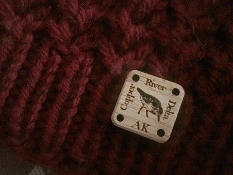 Copper River Delta AK Bamboo Tag for Knits