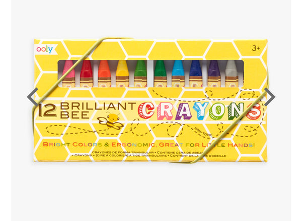 12 Brilliant Bee Crayons