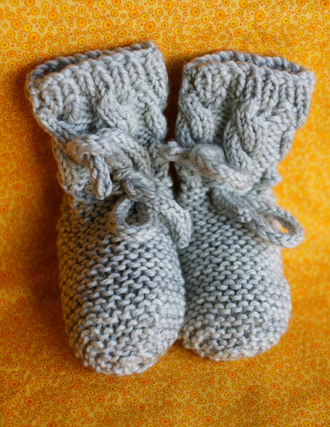 Cable Me Softly Baby Booties