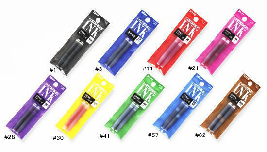 Ink Cartridge Refills for Preppy Fountain Pens & Plaisir Fountain Pens
