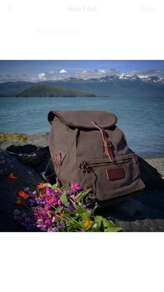 FisherFolk Rucksack in Dark Chocolate