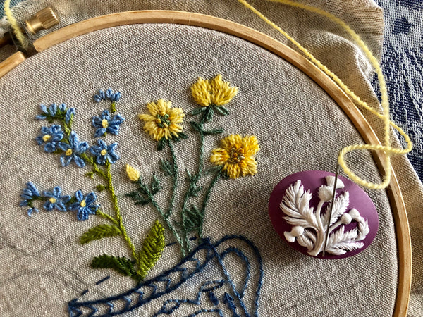 Magnetic Needle Minder: Lavender Thistle