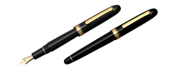 #3776 Century Fountain Pen | Black & Gold Trim