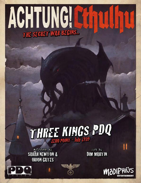 Achtung! Cthulhu - Zero Point - Three Kings - PDQ Core Rulebook - PDF