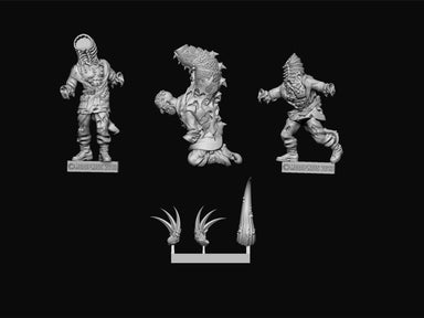 Three sprues of head and claws are provides