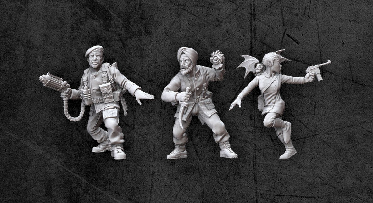 Achtung! Cthulhu Miniatures - Allied Investigators Pack 2 - Modiphius Entertainment