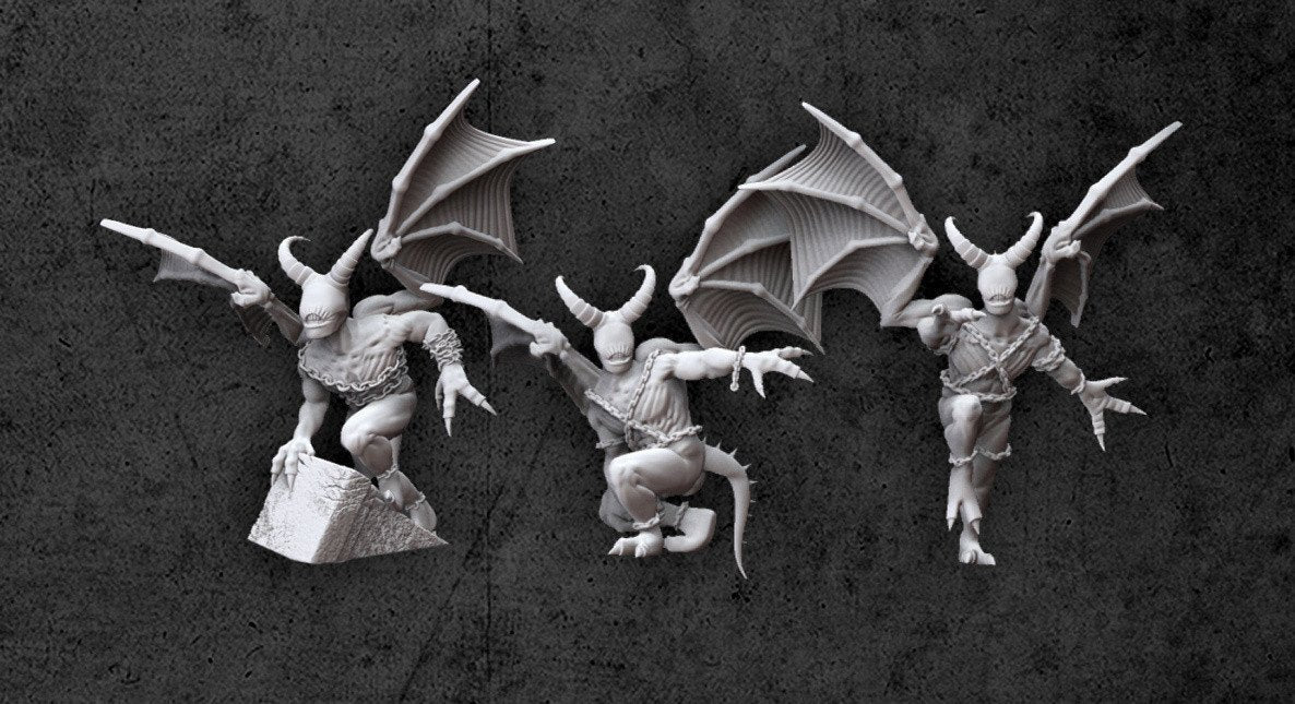 Achtung! Cthulhu Miniatures - Night Gaunts