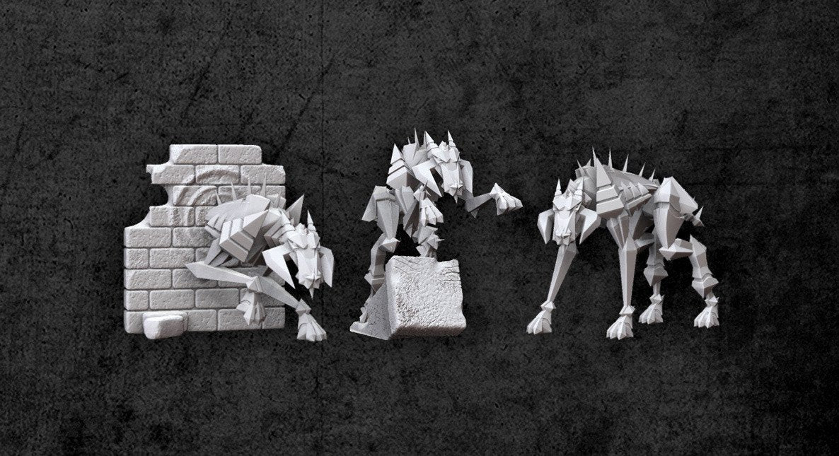 Achtung! Cthulhu Miniatures - Teufel Hounds - Modiphius Entertainment