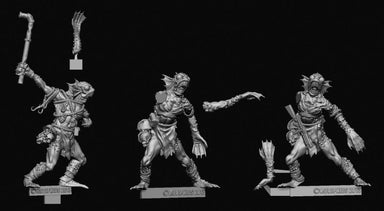 Achtung! Cthulhu Miniatures - Deep Ones - Hunter and Scouts