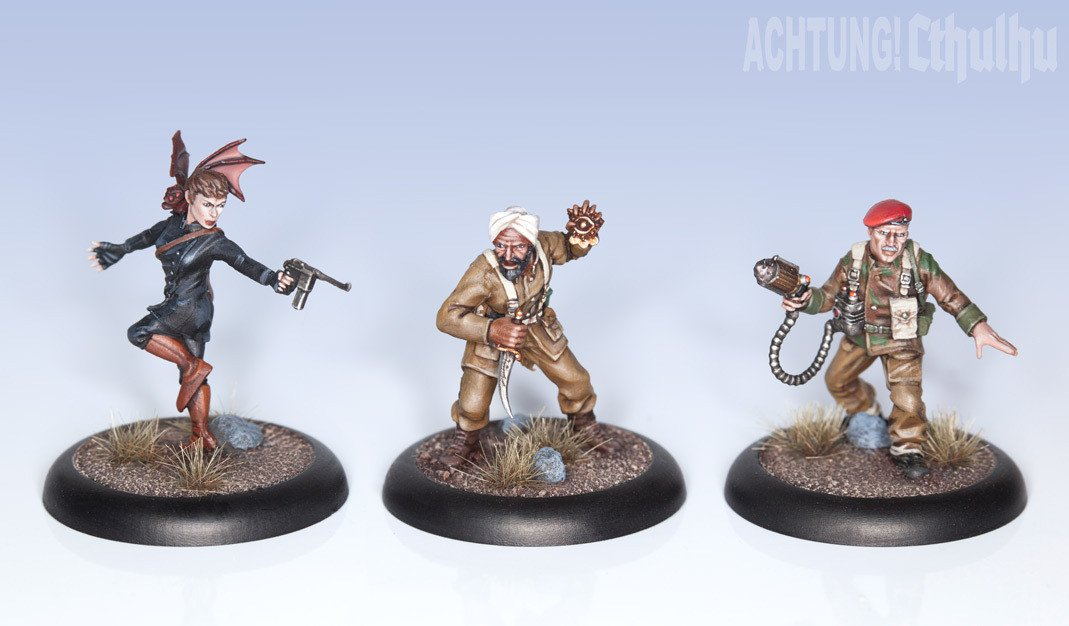Achtung! Cthulhu Miniatures - Allied Investigators - Pack 2