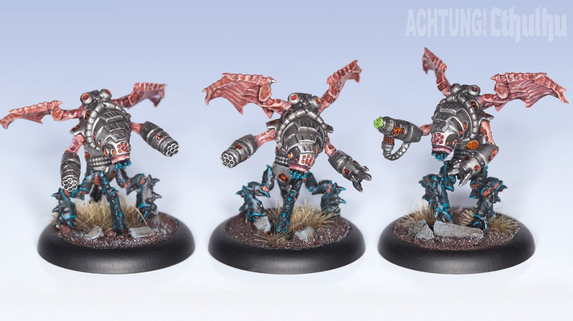 Achtung! Cthulhu Miniatures - Augmented Mi-Go - Modiphius Entertainment