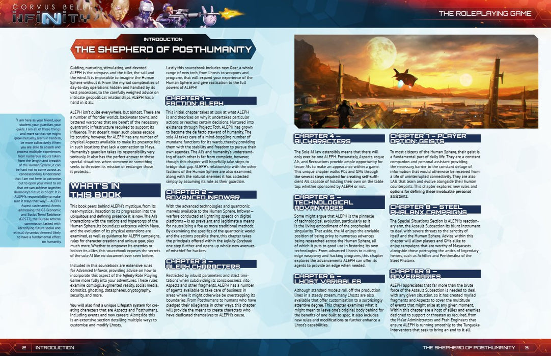 Infinity: Aleph Supplement - Modiphius Entertainment