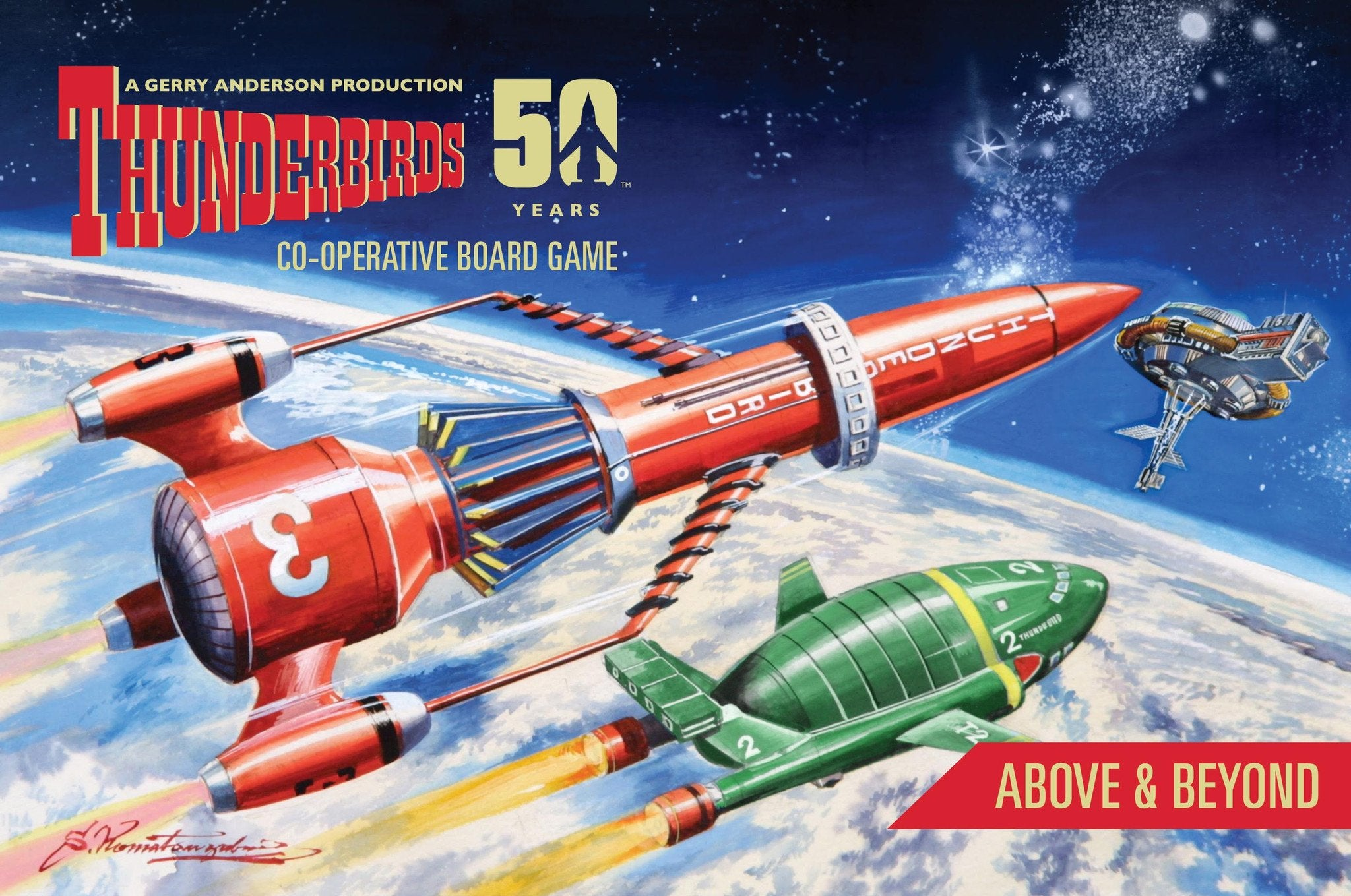 Thunderbirds Co-operative Board Game PLUS All three boxed expansions: Tracy Island, Above & Beyond, The Hood