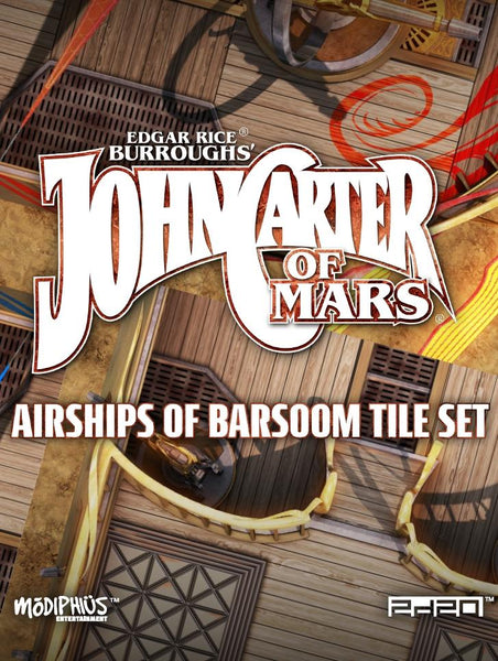 John Carter of Mars: Airships of Barsoom Tile Set - Modiphius Entertainment