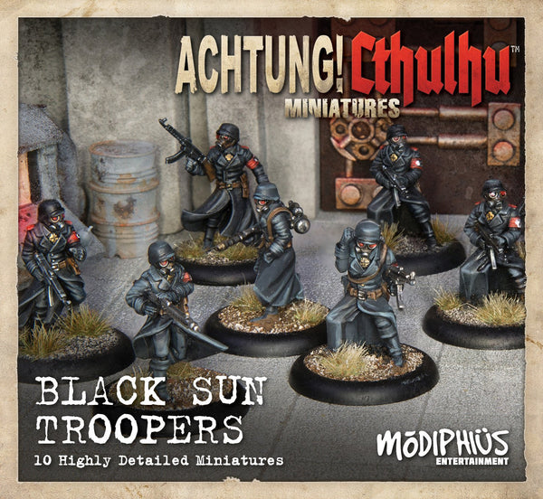 Achtung! Cthulhu Skirmish: Black Sun Troopers unit pack - Modiphius Entertainment