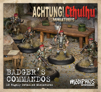 Achtung! Cthulhu Skirmish: Badger's Commandos unit pack - Modiphius Entertainment