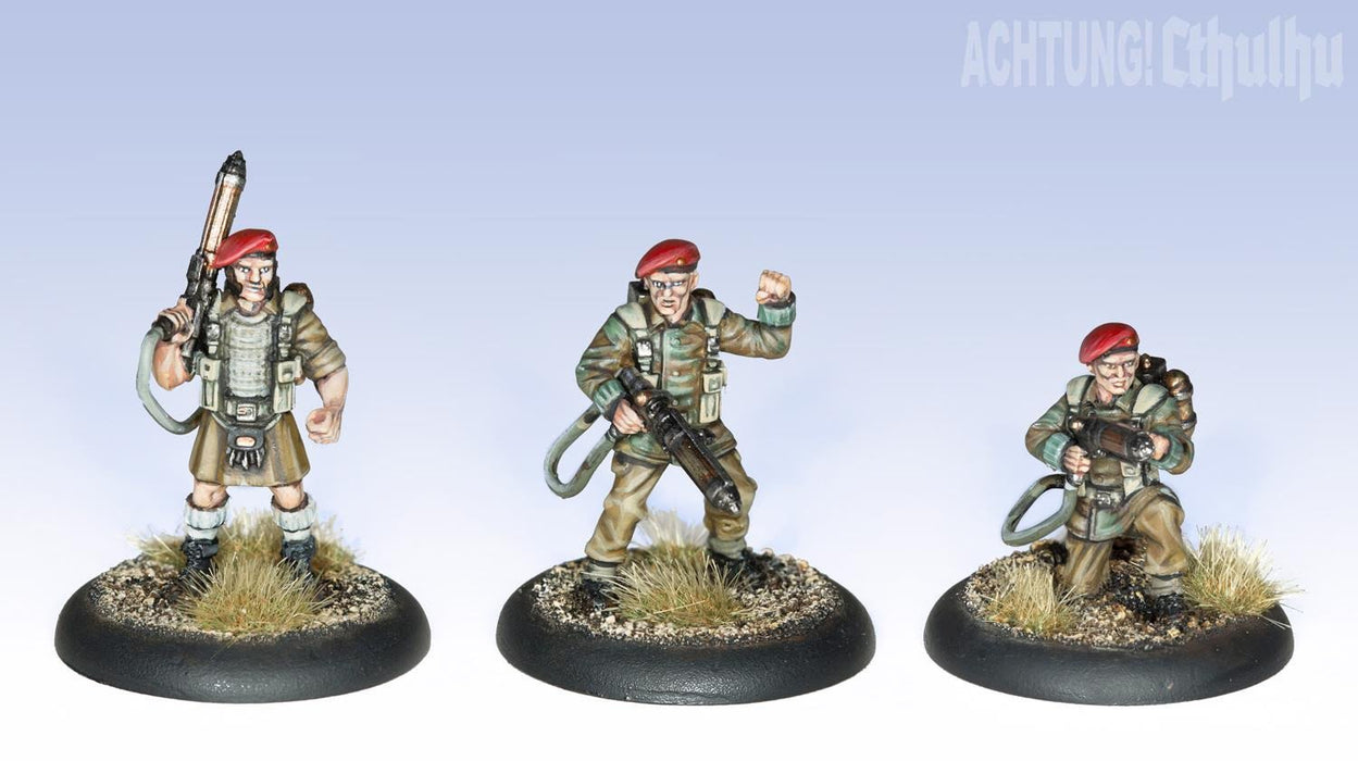 Achtung! Cthulhu Miniatures - Badger's Commandos