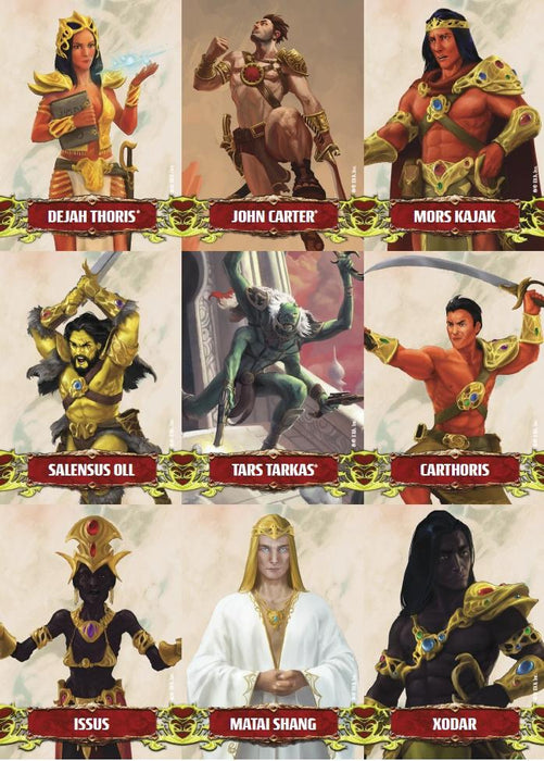 John Carter of Mars: Character and Token Card Deck - Modiphius Entertainment