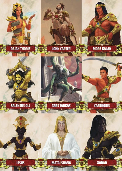 John Carter of Mars: Character and Token Card Deck - PDF