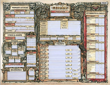 Conan Character Sheets - Modiphius Entertainment