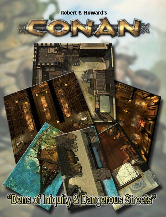 Conan: Dens of Iniquity & Streets of Terror Geomorphic Tile Set - PDF - Modiphius Entertainment