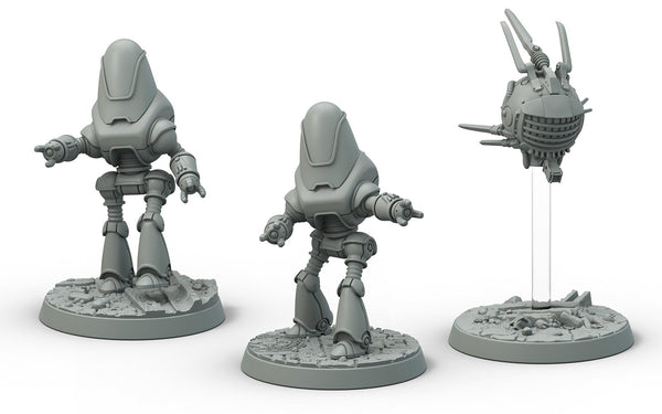 Fallout: Wasteland Warfare - Robots: Protectron and Eyebot