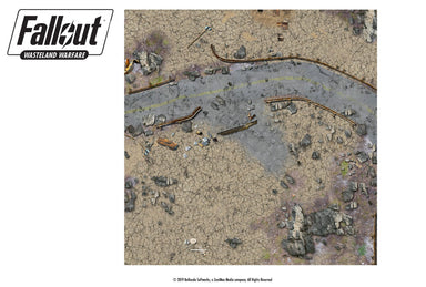 Fallout: Wasteland Warfare - Terrain: Red Rocket Play Mat