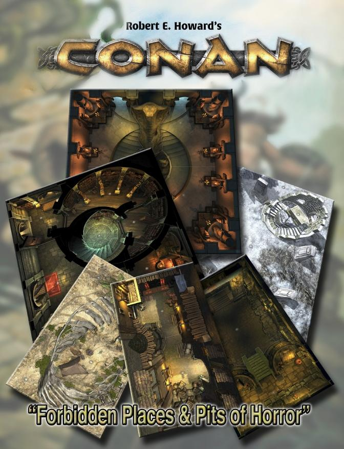 Conan: Forbidden Places & Pits of Horror Geomorphic Tile set - PDF