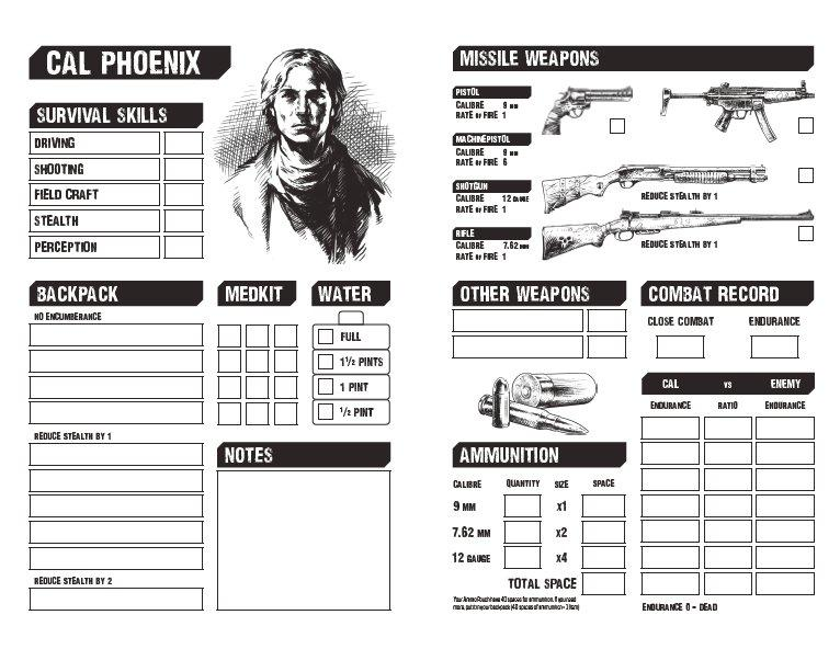 Freeway Warrior - Action Charts & Combat Results tables