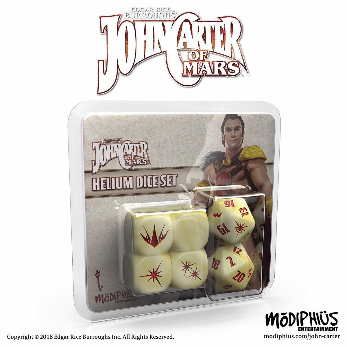 Helium Dice Set: John Carter of Mars RPG  -  Modiphius