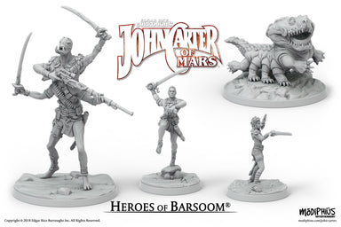 John Carter Miniatures: Heroes of Barsoom Miniatures Set