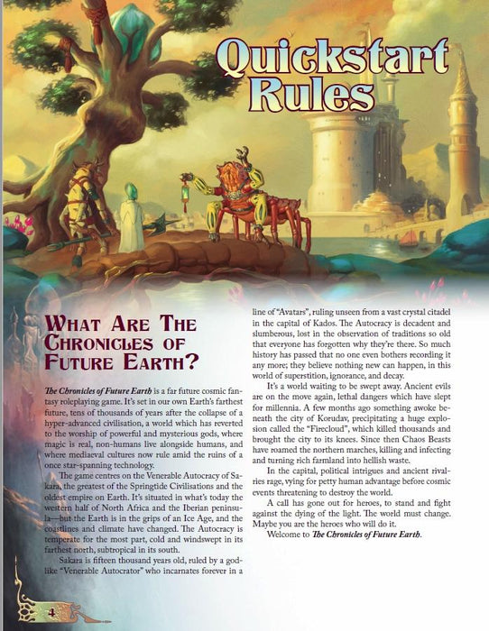 The Chronicles of Future Earth: The Swallower of Souls - Quickstart Adventure - PDF