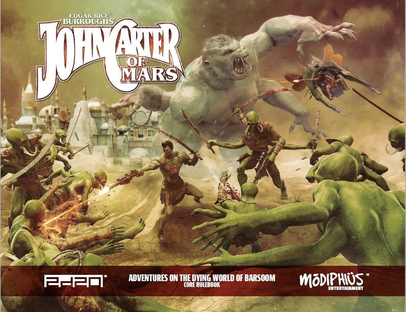 John Carter of Mars RPG: Adventures on the Dying World of Barsoom (T.O.S.) -  Modiphius Entertainment