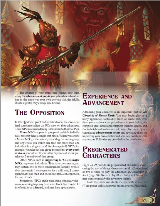 The Chronicles of Future Earth: The Swallower of Souls - Quickstart Adventure - Modiphius Entertainment