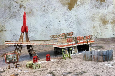 Fallout: Wasteland Warfare – Terrain Expansion:  Red Rocket Gas Station (No Mat)