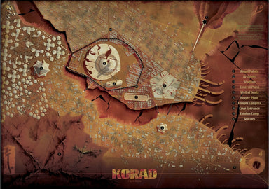 John Carter of Mars: Barsoom and Korad Maps - PDF
