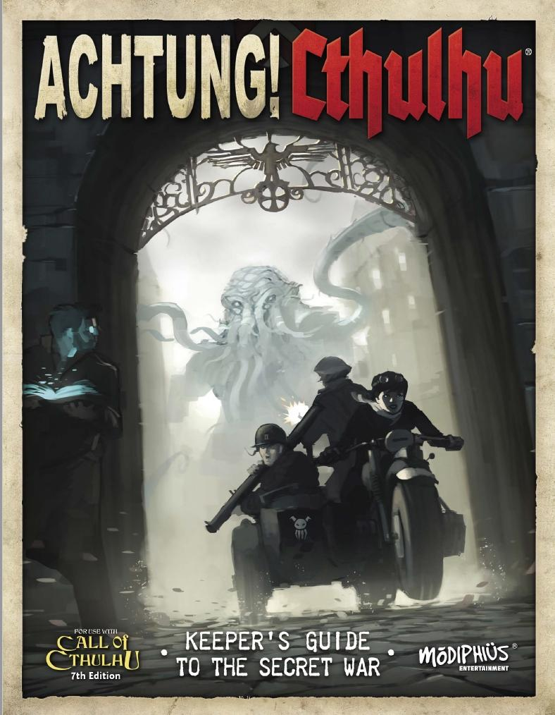 Achtung! Cthulhu  - 7th edition Keeper's and Investigator's Guides Bundle - PDF