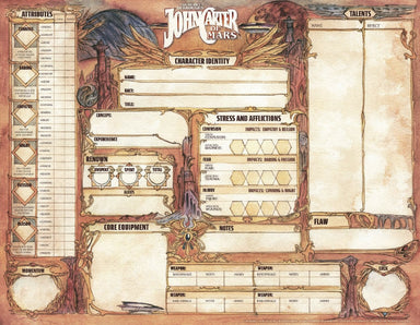 John Carter of Mars - Free character sheets - Modiphius Entertainment