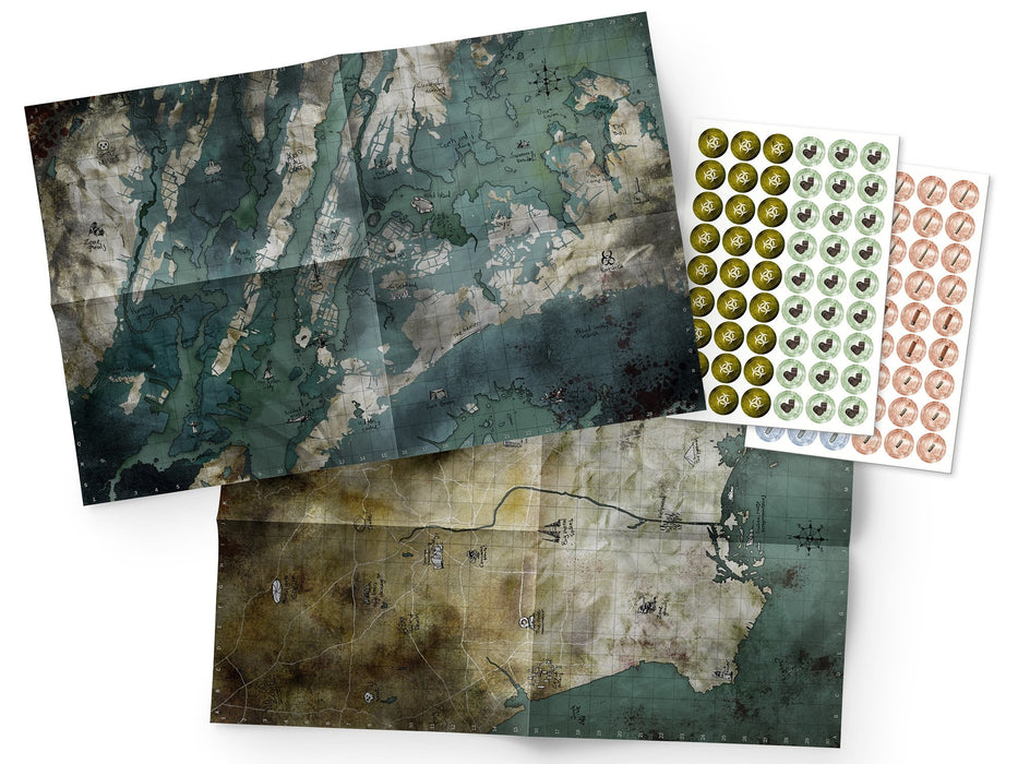 Mutant: Year Zero Maps & Markers Pack - Modiphius Entertainment