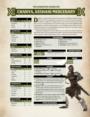Conan Free RPG Day Extra Characters - Modiphius Entertainment