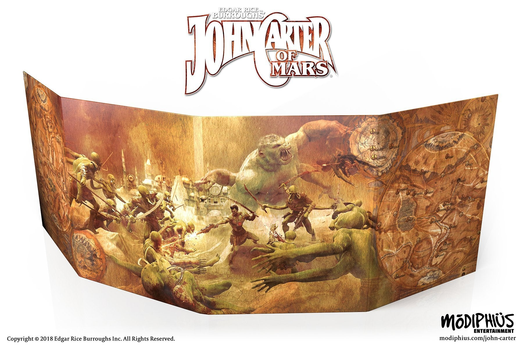 John Carter of Mars RPG: Narrators Toolkit -  Modiphius