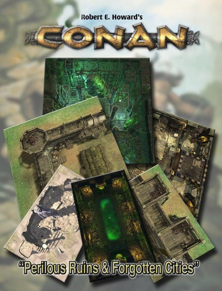 Conan: Perilous Ruins & Forgotten Cities Geomorphic Tiles Set - PDF - Modiphius Entertainment